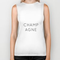 champagne Biker Tanks featuring Champagne by Two if by Sea