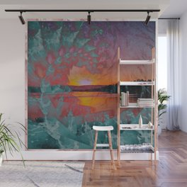 WAVE OVER SUNSET Wall Mural