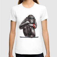 ape T-shirts featuring Genius Ape by beart24