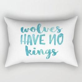 Wolves Have No Kings Rectangular Pillow