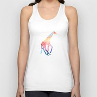 giraffe Tank Tops featuring Watercolor Giraffe by Jacqueline Maldonado