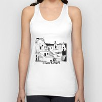 greek Tank Tops featuring Greek Island by KostasK