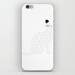 Multilingual cat  iPhone Skin