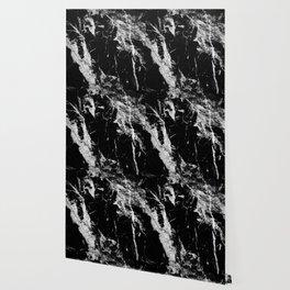 Dark marble black white stone1 Wallpaper
