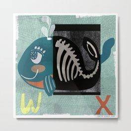 """""""W & X"""" Metal Print"""