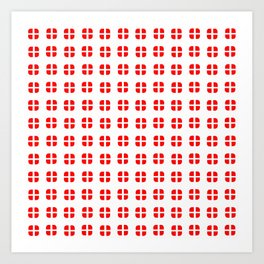 flag of Switzerland - with soft square Art Print