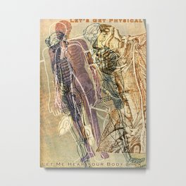 Artist Trading Card 020 - Let's Get Physical (for Valentines Day) Metal Print