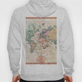 Vintage World Map 1801 Hoody