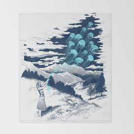 Release the Kindness Throw Blanket