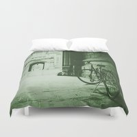 jewish Duvet Covers featuring Break Time by Brown Eyed Lady