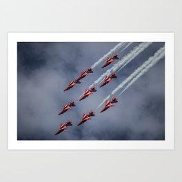 Red Arrows Aerobatics Art Print