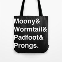 marauders Tote Bags featuring Marauders by Lakeview Boulevard