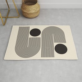 Abstraction_BLACK_LINE_DOT_POP_ART_Minimalism_004D Rug