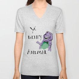 Barney Ya' Filthy Animal  Unisex V-Neck