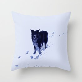 A Snootful of Snow Throw Pillow