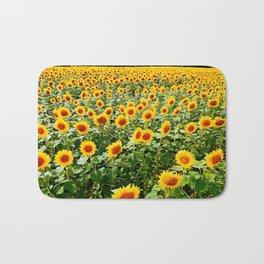 Field of Sunny Flowers Bath Mat