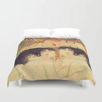 klimt Duvet Covers featuring Mi versión de Klimt by MW. [by Mathius Wilder]