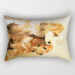 two dogs spaniel Rectangular Pillow