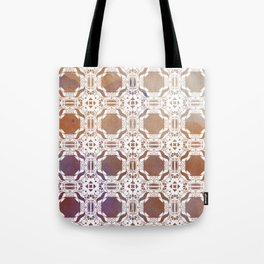 WHITE AND GOLD WATERCOLOR MOSAIC  Tote Bag