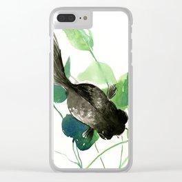 Black Moor Aquarium Fish, KOI Feng SHui Art Clear iPhone Case