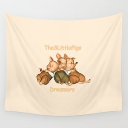 The 3 Little Pigs Dreamers Wall Tapestry