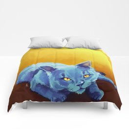 Blue Cat Comforters