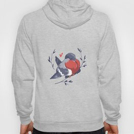 Red Heart Bird Hoody