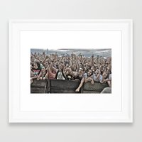 it crowd Framed Art Prints featuring Crowd by Kyle Robish