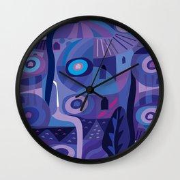 Blue Pozole Wall Clock