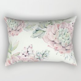 Pink Echeveria Light Green #society6 #buyart Rectangular Pillow