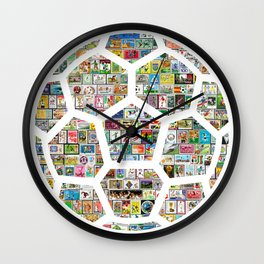 Philately Soccer Ball Wall Clock