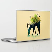 green arrow Laptop & iPad Skins featuring Watering (A Life Into Itself) by Picomodi