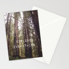 EXPLORE EVERYTHING in the REDWOOD FOREST  Stationery Cards