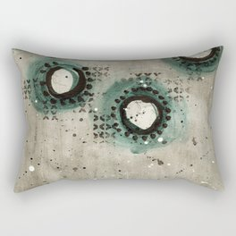 Sepia Circles Rectangular Pillow