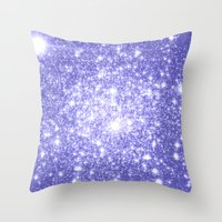 lavender Throw Pillows featuring Lavender Periwinkle Sparkle Stars by WhimsyRomance&Fun