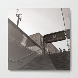 U-Bahnhof - Alexanderplatz - Berlin Metal Print