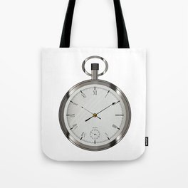 Silver Pocket Watch Tote Bag