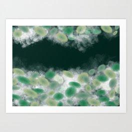 Lotus leaf and pond Art Print