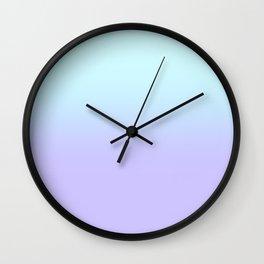 Pastel Aqua Lavender Gradient Wall Clock