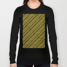 Herringbone 45 Yellow Long Sleeve T-shirt