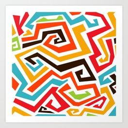 Abstract African Ethnicity Art - C2 Art Print