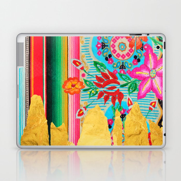 Gold Dipped Boho Serape Dream Laptop & iPad Skin