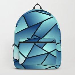 Modern, Sophisticated Geometric Glass Panels in Blue Hues Backpack