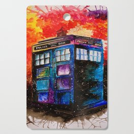 Doctor Who Tardis Painting Cutting Board