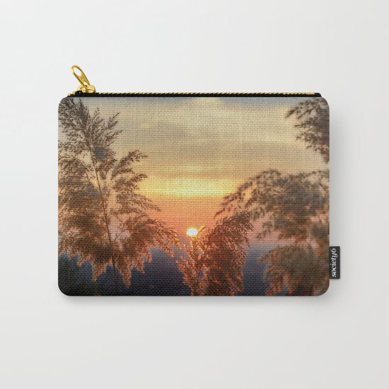 """""""Sun through the fields"""" Sunset at the mountains Carry-All Pouch"""
