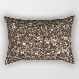 Golden bronze shimmering stars Rectangular Pillow