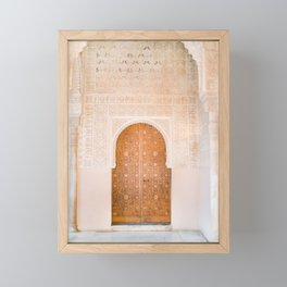 Alhambra door | Granada Spain travel photography | Bright and pastel colored photo art print Framed Mini Art Print