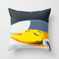 Egg Breath Throw Pillow