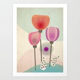 Naive Blooms Art Print