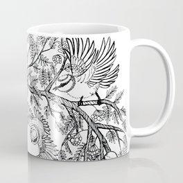 Birds tree botanical pattern Coffee Mug